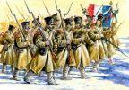 francuska piechota w umundurowaniu zimowym z 21 pułku piechoty liniowej, ok. 1807r.