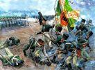 Tak to mogło wyglądać pod Stępniem…. w tym przypadku natarcie Kostromskiego Pułku Muszkieterów na piechotę francuską w 1806 r. Obraz autorstwa A. Jeżowa.