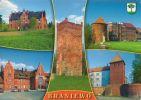 współczesna pocztówka z herbem Braniewa wydana przed 2000r.