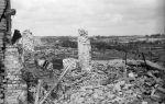 Zdjęcie Bełżca po  radzieckim bombardowaniu w dniu 4.07.1944