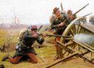 """Francuska piechota tzw. """"czerwone spodnie"""" mimo, że fatalnie dowodzeni byli godnym przeciwnikiem w walce dla pruskich żołnierzy. Ich karabiny Chassepot Modele 1866 przewyższały niezawodnością i zasięgiem pruskie karabiny Dreyse M/41."""