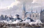 Płk von Yorck w dniu 6.11.1806r. podczas zaciętych walk ulicznych w Lubece walcząc na czele swoich jegrów, zostaje ciężko ranny i dostaje się do niewoli francuskiej