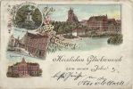 Pocztówka z przełomu XIX/XXw. Jak widać pomnik jegrów w Lesie miejskim był częstym tematem ówczesnych widokówek.