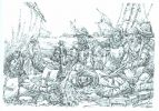 Polsko-krzyżacka nitwa morska. Z tego typu walk najczęściej zwycięsko wychodziły wojska królewskie.
