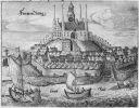 Frombork – miasto biskupie ze wzgórzem katedralnym. Podczas wojny trzynastoletniej było atakowane przez krzyżaków w 1454r., zajęte w 1455r. przez wojsko Skalskiego stało się jego główną siedzibą w 1461r. po utracie Braniewa. Oblegane dwukrotnie przez biskupa Legendorfa w 1461r. (poniósł całkowitą klęskę) i w 1462r. podczas oblężenia biskup głównie  toczył spór z krzyżakami o obsadę wzgórza. Do końca wojny port, z którego Skalski atakował żeglugę krzyżacką na Zalewie Wiślanym i Bałtyku. Stan katedry fromborskiej po czeskiej okupacji uniemożliwił pochówek Pawła Legendorfa we Fromborku.