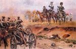 obraz W. Kossaka. Ks. Józef Poniatowski 1812, przyjmuje defiladę artylerii konnej Ks. Warszawskiego