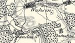 Fragment pruskiej mapy przedstawiający rejon walk