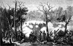Atak sił kolonialnych na osadę Maorysów  zwaną Pa