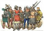 Rycerstwo polskie w latach 1447-1492, a więc w okresie konfliktu o obsadę biskupstwa warmińskiego. 8 zbrojnych, od lewej- dwaj kusznicy, dwaj rycerze piechoty, drab miejski, dwaj halabardnicy i rycerz z toporem. Autor Jan Matejko