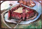 stylizowana rekonstrukcja zamku w Ornecie. Zaskoczona załoga biskupia w Ornecie w dniu 8.10.1478 r. skapitulowała otwierając bramy bez walki. Jako dowódca Ornety pozostaje polski kapitan Krzysztofa Roler.