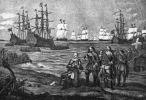Tak to mogło wyglądać. Gustaw II Adolf ląduje w Niemczechw dniu 25.06.1630r. podczas tzw. wojny trzydziestoletniej