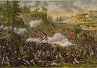 Bitwa nad Chickamaugą  18-20.09.1863r. – starcie zbrojne, które miało miejsce nad rzeczką West Chickamauga Creek uchodzącej do Tennessee w stanie Georgia. Zakończona zwycięstwem sił konfederacji. 1 Brygada generała Willicha była jednym z najdzielniejszych oddziałów jankeskich, odpierając powtarzające się ataki konfederatów i ratując wojska Unii od zagłady. Kolejny raz wielką odwaga osobistą wykazał się generał August Willich. Autor Kurz and Allison, 1890.