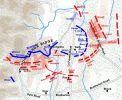 Żołnierze Willicha w walce w ręcz odbili baterię artylerii Unii, zdobytą wcześniej przez konfederatów. Brygada generała Willicha była jednym z najdzielniejszych oddziałów jankeskich. Willich poprowadził swoją brygadę wspierając szybko załamujące się centrum Jankesów i tym samym ratując Armię Unii od całkowitej zagłady. Na planie widoczna pozycja Willicha.