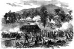 Bitwa pod Rich Mountain –11.07.1861 roku Zakończyła się zwycięstwem sił federalnych Starcie trwało zaledwie dwie godziny. Jankesi oskrzydlili konfederatów i zamknęli część  z nich w okrążeniu.
