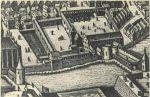 Fragment planu Pawła Stertzla z 1635r. z doskonale widocznym zamkiem biskupim