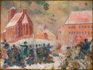 26.02.1807r. Bitwa o Braniewo między Francuzami a oddziałami prusko-rosyjskimi objęła też teren zamku. Obraz Zbigniewa Walczaka.