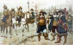 W czasie okupacji brandenburskiej 1655-1663 przez Braniewo  przewinęło się wiele różnych formacji wojskowych. Okupanci zajęli zamek już w 1655r. wywieziono z miasta armaty i odebrano mieszkańcom broń. Wbrew obietnicom i umowom Brandenburczycy wzmacniali dodatkowo umocnienia. Okupacja brandenburska była bardzo uciążliwa i kosztowna dla miasta i biskupstwa. Na ilustracji dragoni brandenburscy z okresu okupacji Braniewa.